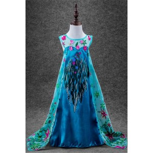 New Style Elsa Prinzessin Dress Cosplay