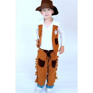 Kinder West-Cowboy-Leistungskleidung Cosplay Kostüme
