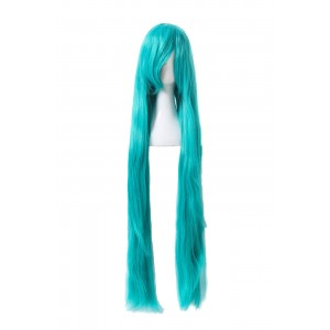 Fashion Woman Long Green Synthetic Woman Wigs