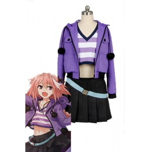 Fate/Apocrypha Kuro no Rider Purple Dress Anime Cosplay Costumes