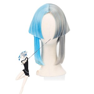 Land of the Lustrous Houseki no Kuni Euclase Short Mixed Blue and Gray Cosplay Wigs