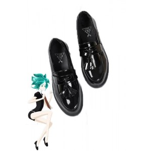Land of the Lustrous Houseki no Kuni Phosphophyllite Black Anime Cosplay Woman Shoes