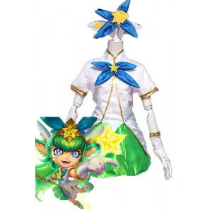 LOL Lulu Star Guardian Green Game Cosplay costumes