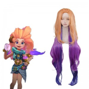 LOL Aspect of Twilight Zoe Purple Mixed Yellow Cosplay Wig