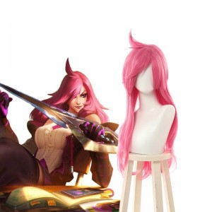 LOL Battle Academy Katarina Pink Long Cosplay Wigs