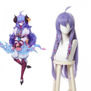 LOL Spirit Blossom Kindred Purple Long Cosplay Wigs