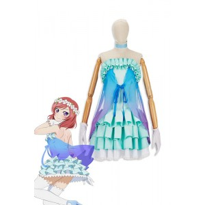 Love Live! Yume No Tobira Maki Nishikino Green Anime Coaplay Dress