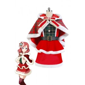 Love Live Nishikino Maki Christmas Dresses Cosplay Costumes