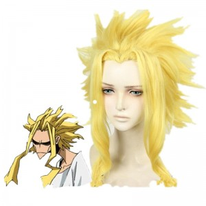 My Hero Academia All Might Man Gold Cosplay Wigs
