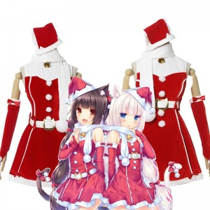 NEKOPARA Chocolat & Vanilla Christmas Dress Cosplay Costume