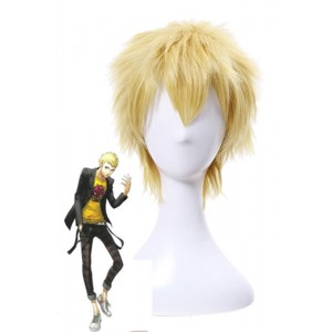 Persona 5 Skull Short Golden Game Cosplay Man Wigs