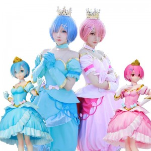ReZERO -Starting Life in Another World Rem Ram Princess Dress Cosplay Costume