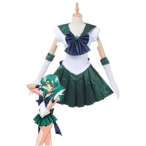 Sailor Moon Sailor Neptun Kaiou Michiru Kämpfen Uniform Cosplay