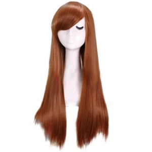 Suzumiya Haruhi Long 65cm Straight Brown Japanese Anime Cosplay hair Wig