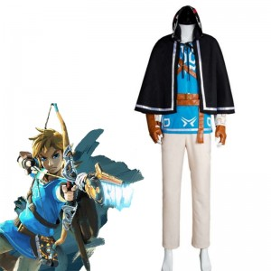 The Legend of Zelda Breath of the Wild Link  Cosplay Costume Full Sets