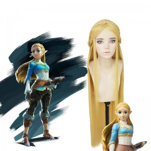 The Legend of Zelda Breath of the Wild Princess Zelda Blonde Long Cosplay Wigs