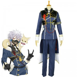Touken Ranbu Nakigitsune Game Military Uniform Cosplay Costume