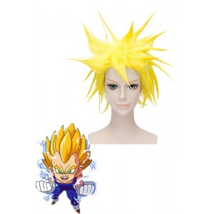 30cm Yellow Dragon Ball Vegeta Cosplay Perücke