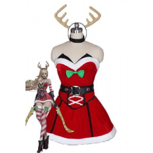 LOL Katarina Du Couteau Game Cosplay Christmas Costumes