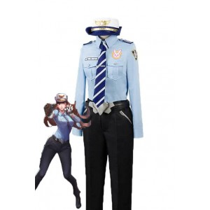 Overwatch Game D.Va Hana Song Woman Police Officer Cosplay Costumes