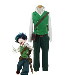 My Hero Academia Izuku Midoriya Anime Cosplay Green Costumes