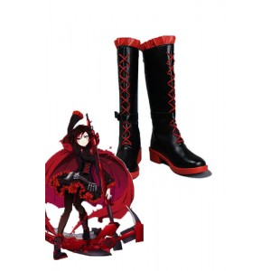 RWBY Ruby Rose Red and Black Anime Cosplay Shoes