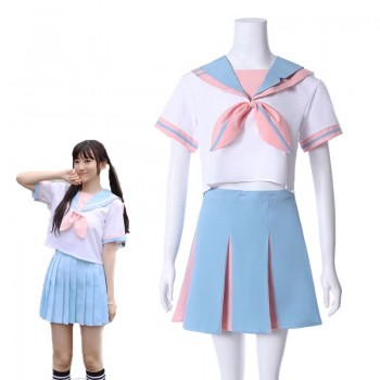 Japanese Student Sailor Suit College Wind Suit Short-sleeved JK Uniform Pleated Skirt Cosplay Costume