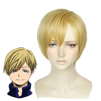 Mein Held Academia Neito Monoma Man Gold Cosplay Perücken