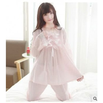 Pink Silk Woman Nightgown Cosplay Costumes
