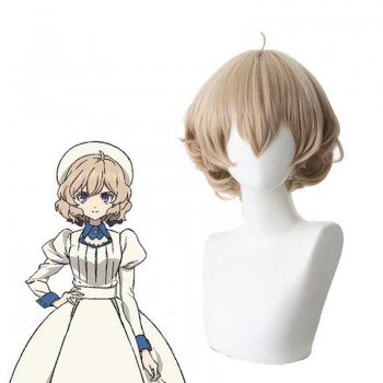 35cm In/Spectre Iwanaga Kotoko Brown Short Curly Cosplay Wigs