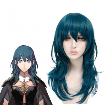 50cm Fire Emblem: Three Houses Byleth Blue Long Cosplay Wigs