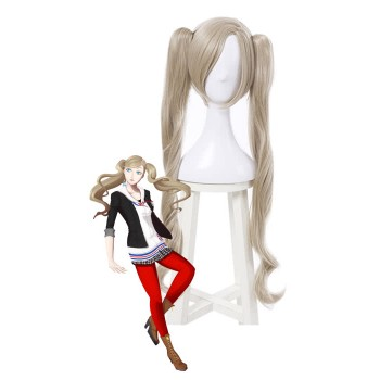 Persona 5 Anne Takamaki Long Yellow Women Cosplay Wigs