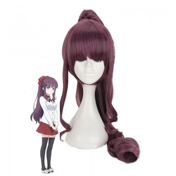 NEW GAME! Hifumi Takimoto Purple Long Cosplay Wigs