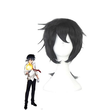 Akashic Records Of Bastard Magic Instructor Glenn Radars Short Black Anime Cosplay Man Wigs