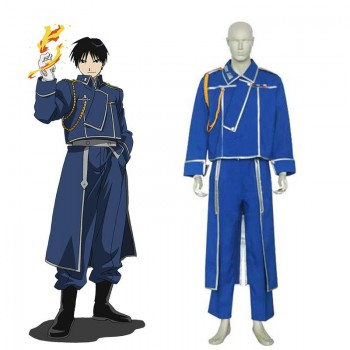 Anime Fullmetal Alchemist Roy Mustang Military Cosplay