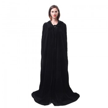 Halloween Witch Costume Horror Black Robe Vampire Death Cloak Cosplay Costume