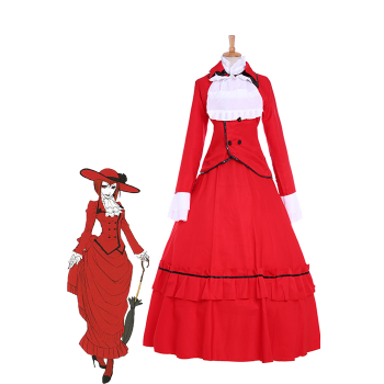 """Black Butler Angelina Dulles """"Madame Red"""" Cosplay"""