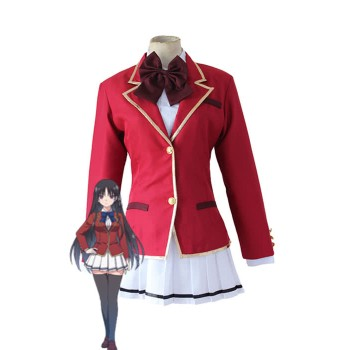 Klassenzimmer der Elite Suzune Horikita Red Dress Cosplay Kostüm