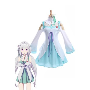 Re:ZERO -Starting Life in Another World Emilia Anime Cosplay Kostüme