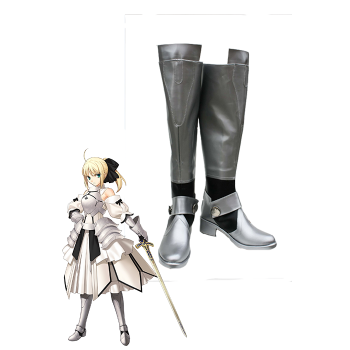 Fate Stay Night Saber Lily Cosplay Shose Boots irgendeine Größe