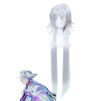 Fate Grand Order Merlin Silver Anime Cosplay Man Wigs