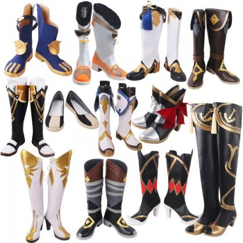 Game Genshin Impact Cosplay Shoes 12 Style
