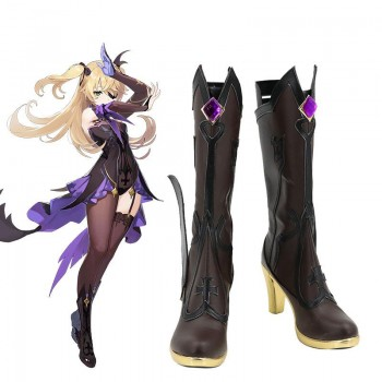Game Genshin Impact Fischl Cosplay Shoes