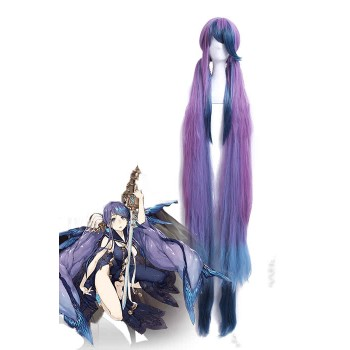 Game SINoALICE Little Mermaid Long Mixed Purple Synthetic Women Cosplay Wigs