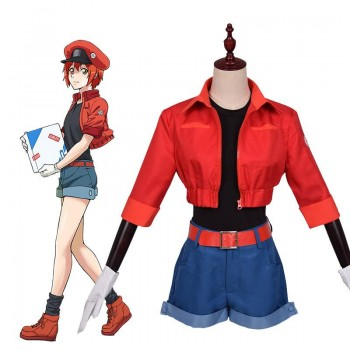 Hataraku Saibou Red Blood Cell Costumes Cells At Work Anime Cosplay Costüm