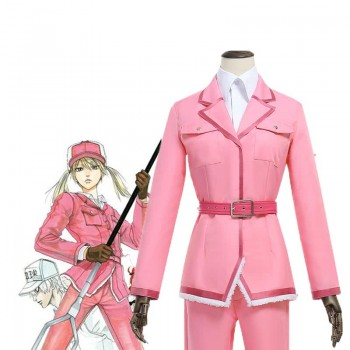 Hataraku Saibou Cells At Work Anime Saibou Eosinophils Pink Uniform Cosplay Costume