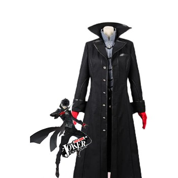 Persona 5 Joker Black Suit Game Cosplay Costumes