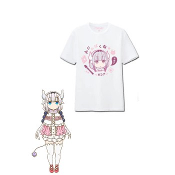 Miss Kobayashi's Dragon Maid Kanna Kobayashi T-shirt Anime Cosplay Costumes