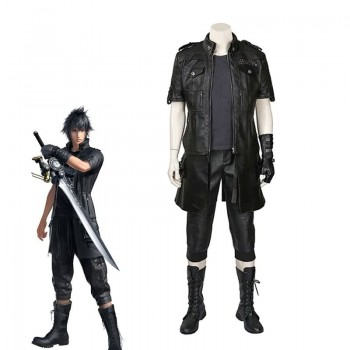 Kingsglaive Final Fantasy XV Noctis Black leather Cosplay Costume