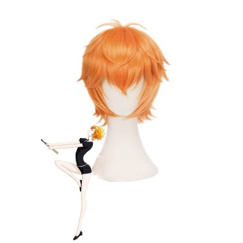 Land of the Lustrous Houseki no Kuni Zircon Kurze Orange Cosplay Perücke
